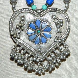 Jewelry - Vintage Tibetan Silver Turquoise Lapis Necklace